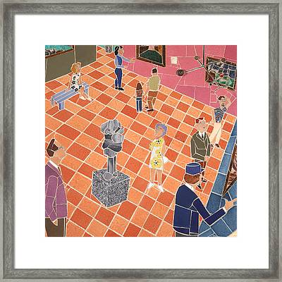Art Museum Gallery II Framed Print by Jonathan Mandell