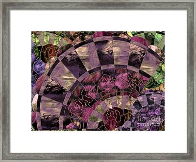 Art Nouveau Stained Glass Fan Framed Print by Mindy Sommers