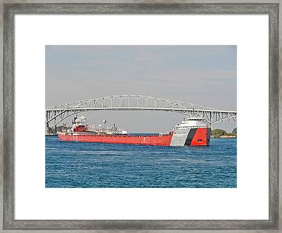 Arthur M. Anderson Downbound Framed Print by Kenneth Hein