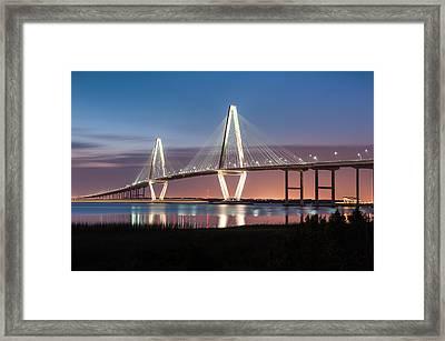 Arthur Ravenel Jr. Cooper River Bridge Charleston South Carolina Framed Print by Mark VanDyke