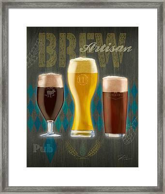 Artisan Brew Framed Print by Shari Warren