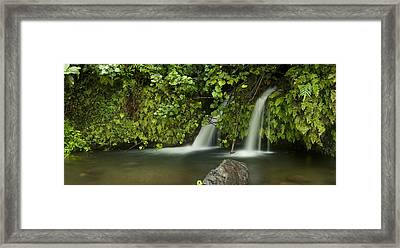 Artisan Falls Framed Print by Sun Gallery Photography Lewis Carlyle