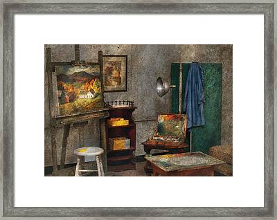 Artist - Painter - The Artists Studio Framed Print by Mike Savad