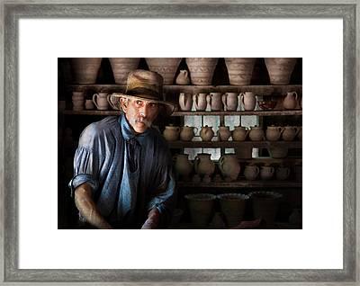 Artist - Potter - The Potter II Framed Print by Mike Savad