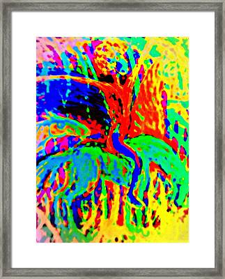 The Artist Of The Burning Rainbow  Framed Print by Hilde Widerberg