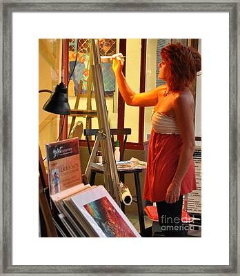 Artist At Work Framed Print by Rose  Hill