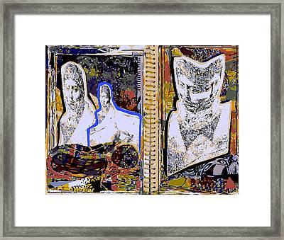 Artist Sketchbook With Three Ingres Studies Framed Print by F Burton