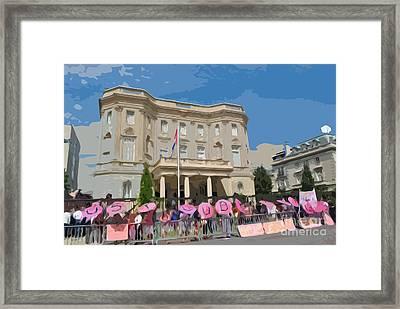 Artistic Embassy Framed Print by Jost Houk