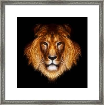 Artistic Lion Framed Print by Aimelle
