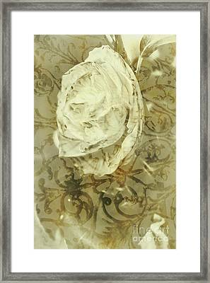 Artistic Vintage Floral Art With Double Overlay Framed Print by Jorgo Photography - Wall Art Gallery