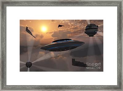 Artists Concept Of Alien Stealth Framed Print by Mark Stevenson
