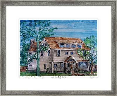 Arts And Crafts Style Framed Print by Eric  Schiabor