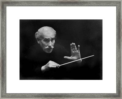 Arturo Toscanini 1867-1957 Conducted Framed Print by Everett