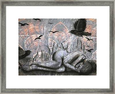 As A Crow Framed Print by Kirsten Vidis
