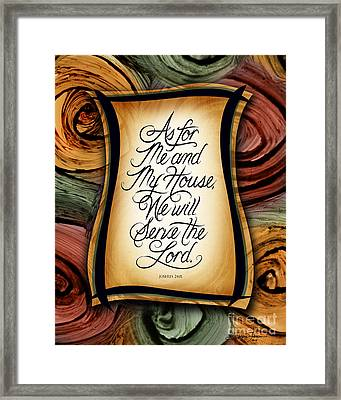 As For Me And My House 2 Framed Print by Shevon Johnson