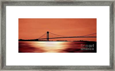 As The Sun Sets Framed Print by Arnie Goldstein