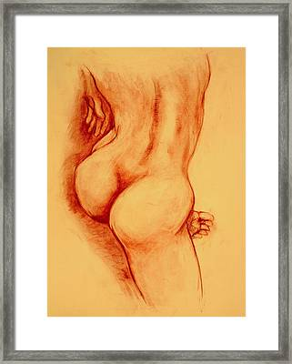 Asana Nude Framed Print by Dan Earle