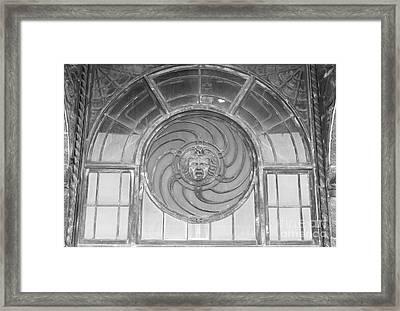 Asbury Park Carousel Window Framed Print by Bobby Cole