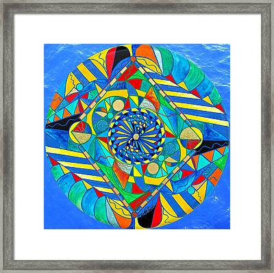 Ascended Reunion Framed Print by Teal Eye  Print Store