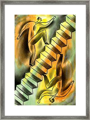 Ascending And Descending Framed Print by Leon Zernitsky
