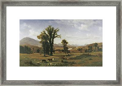 Ascutney From Claremont Framed Print by Albert Bierstadt