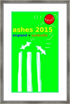 Ashes Poster  Framed Print by Paul Sutcliffe