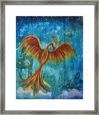 Ashes Framed Print by Tee Thompson