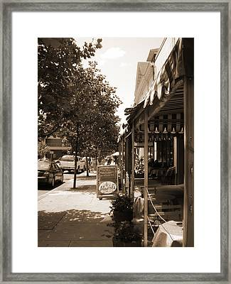 Asheville Street Framed Print by Utopia Concepts
