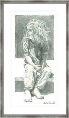 Ashlee Framed Print by Leslie Rhoades