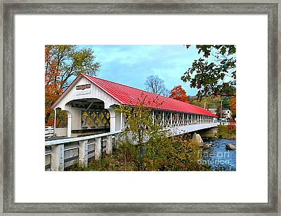 Ashuelot Covered Bridge Framed Print by DJ Florek