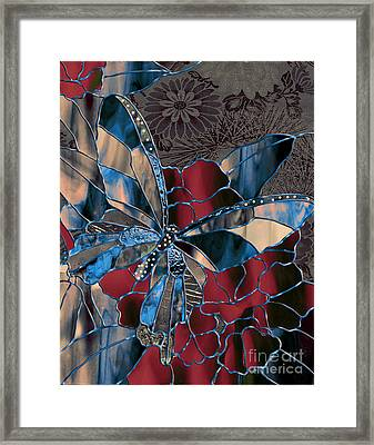 Asian Butterfly Framed Print by Mindy Sommers