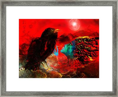 Ask The Raven II Framed Print by Patricia Motley