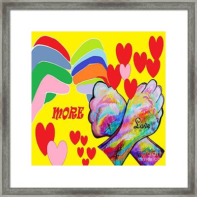 Asl More Love Framed Print by Eloise Schneider