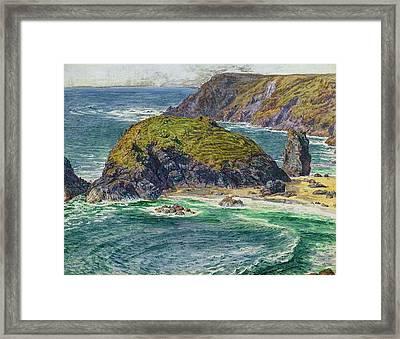 Asparagus Island Framed Print by William Holman Hunt