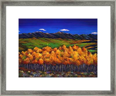Aspen In The Wind Framed Print by Johnathan Harris
