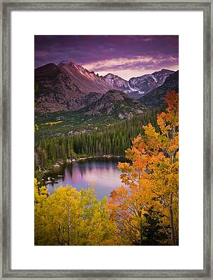 Aspen Sunset Over Bear Lake Framed Print by Mike Berenson