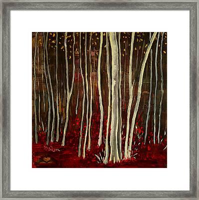 Aspen Trees Framed Print by Katrina Rasmussen