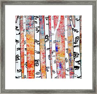 Aspen Woods Framed Print by Amy Sorrell