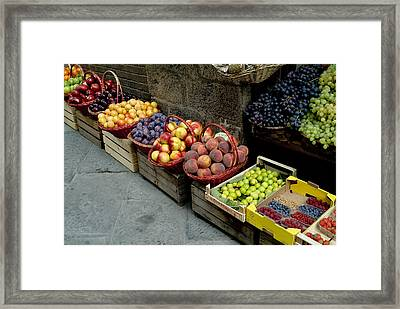 Assorted Fresh Fruits Of Berries Framed Print by Todd Gipstein