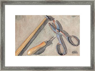 Assorted Tools Framed Print by Ken Powers