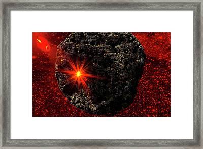 Asteroid Framed Print by Ivanoel Art
