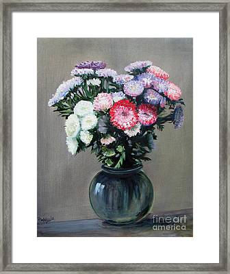 Asters Framed Print by Paul Walsh