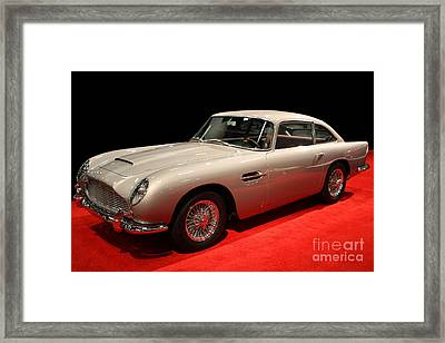 Aston Martin Db5 Front Angle Framed Print by Wingsdomain Art and Photography