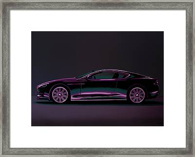 Aston Martin Dbs V12 2007 Painting Framed Print by Paul Meijering