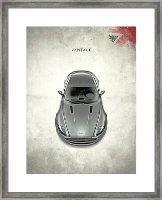 Aston Martin Vantage Framed Print by Mark Rogan