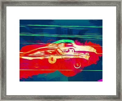 Aston Martin Vs Porsche Framed Print by Naxart Studio