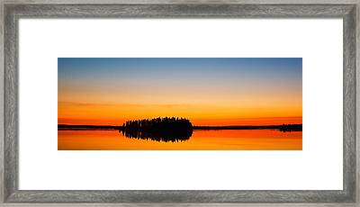 Astotin Sunset Framed Print by Ian MacDonald