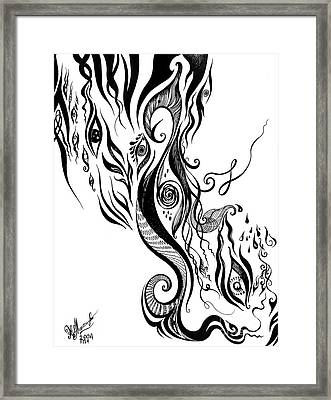Astral Vision - Mind Without Control Framed Print by Sofia Goldberg