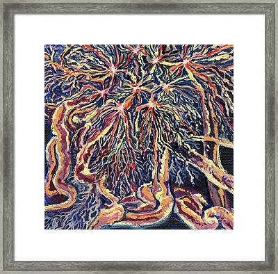 Astrocytes Microbiology Landscapes Series Framed Print by Emily McLaughlin