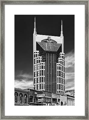 At And T Nashville Framed Print by Ian Barber